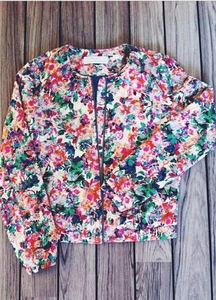 jacket flowers classy
