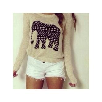 sweater cute elephant elephant sweater