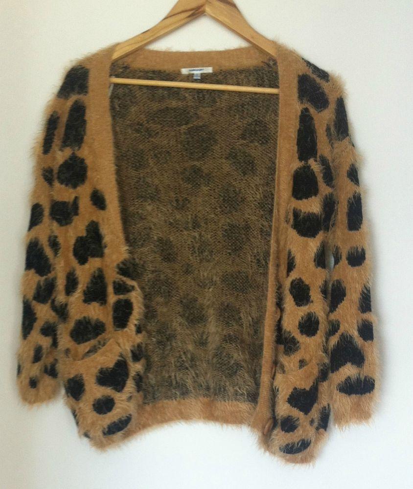 Valleygirl Leopard FUR Cardigan Size 8 | eBay