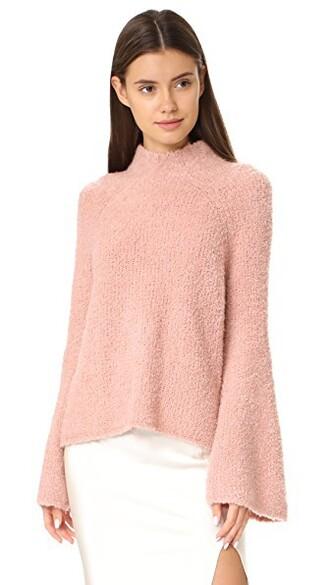 turtleneck rose sweater
