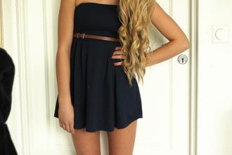 dress black little black dress belt little dress