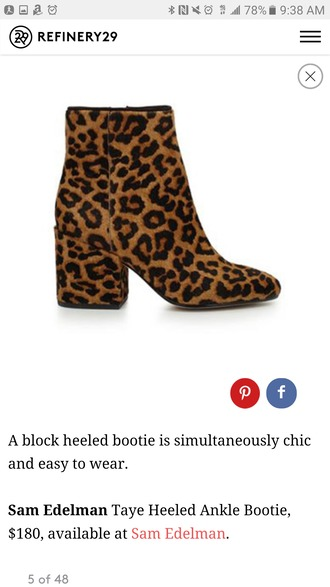 shoes leopard print ankle boots