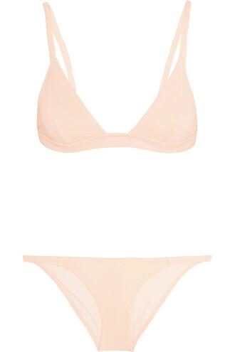 bikini triangle bikini triangle pastel pink pastel pink swimwear