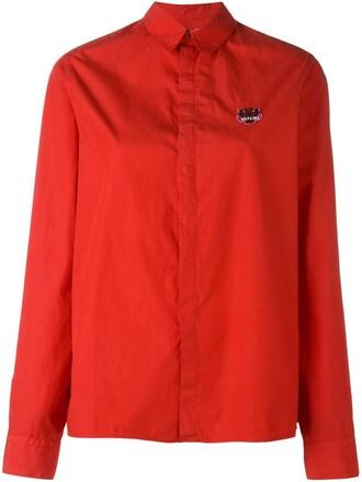 shirt tiger red top