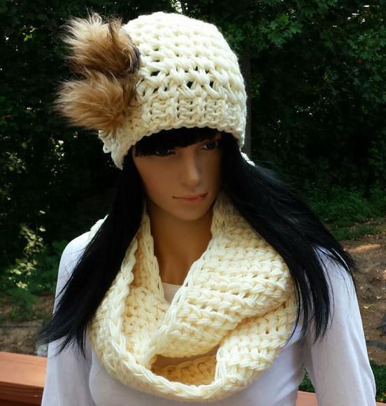 hat beanie scarf cowl cowl scarf crocheted crochet infinity scarves handmade etsy etsy sale etsy.com