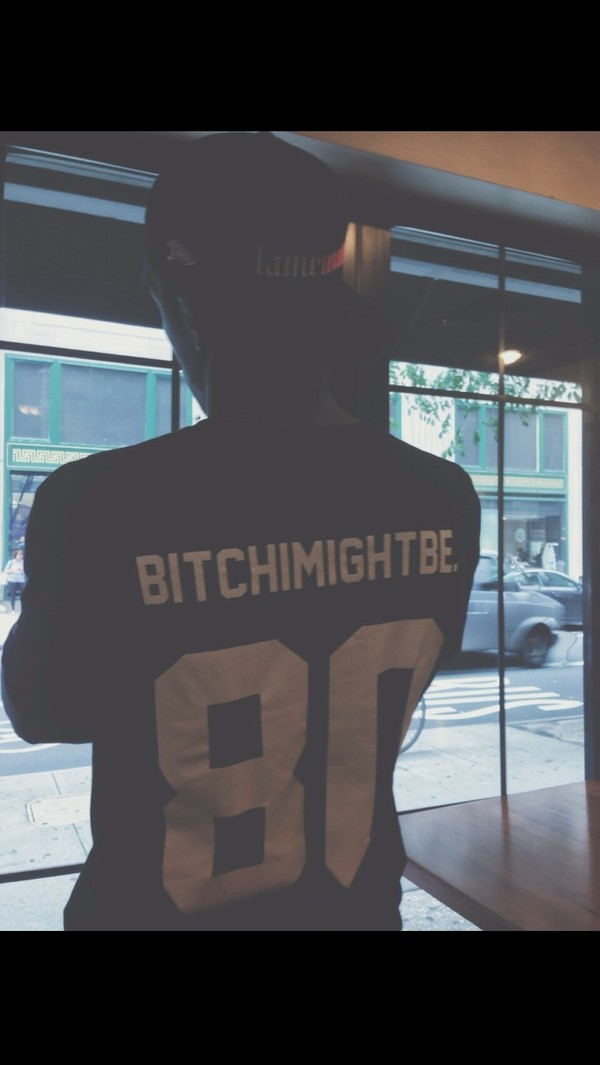 shirt dope shit dope trill bitchimightbe bitch i might be black jersey jersey bitch i might be 81