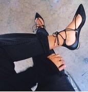 shoes,black shoes,cute,t-straps,black,lace up sandal,flats,black flats,black sandals,lace up