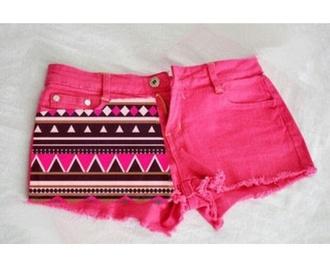 shorts pink aztec bright