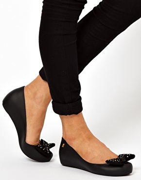 Melissa | Melissa Ultragirl Sweet Bow Ballet Shoes at ASOS