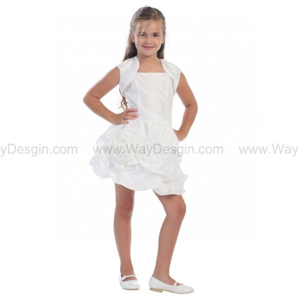 dress white dress flower girl dresses