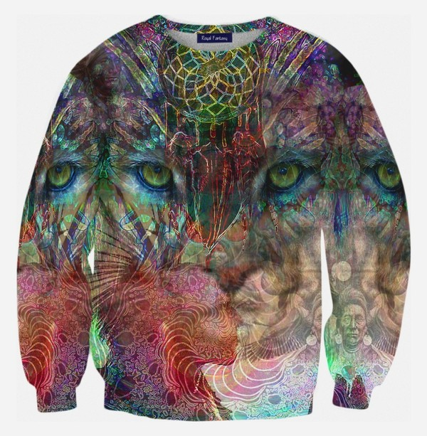 blouse swag hipster full print full print sweaters full print clothing printed sweater lion tiger