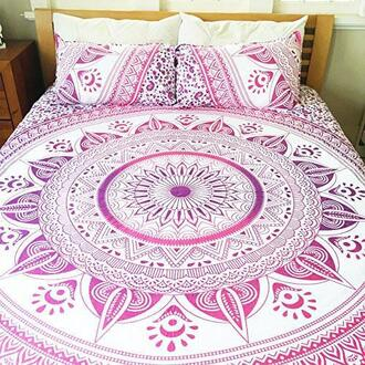 home accessory pink boho chic boho chic bedding room boho bedding set bohemian bedding set mandala bedding set queen bedding set twin bedding set mandala quilt cover mandala duvet cover mandala comforter cover comforter cover bohemian comforter cover boho bedroom holiday gift cheap christmas gifts wedding gifts indian bedding set duvet bedding donna