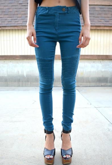 denim jeans high waisted jeggings leggings teal teal jeans high-waisted high waisted jeans high-waisted jeans high waisted leggings high waisted jeggings