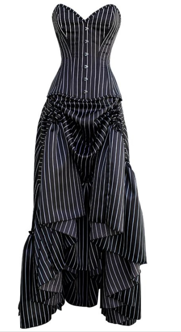 Pinstripe Bridesmaid Dress