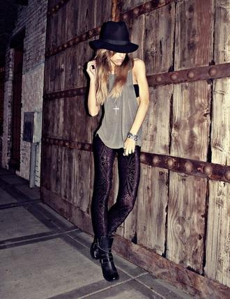 leggings pattern black jeans black pants tumblr outfit trendy