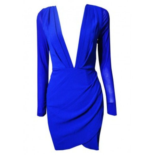 dress ustrendy dress ustrendy plunge neckline bodycon dress deep plunge neckline royal blue dress low cut dress v neck dress