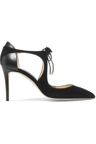 Jimmy Choo pumps leather suede black shoes