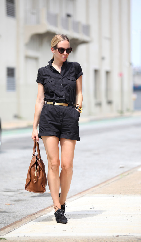 brooklyn blonde jumpsuit belt shoes bag jewels
