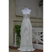 dress,unique shoes,sweetheart neckline,designer bag,ivory dress,strapless