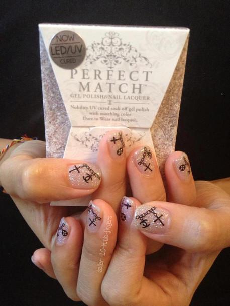 nail accessories manciure pedicure stickers decals brand designer logo symbol glitter cross nail polish colorful wraps accessories nails