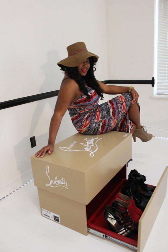 f474df60805 Giant christian louboutin shoe box ,high heels , storage box, nike ...