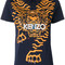Kenzo - geo tiger t-shirt - women - cotton - m, blue, cotton