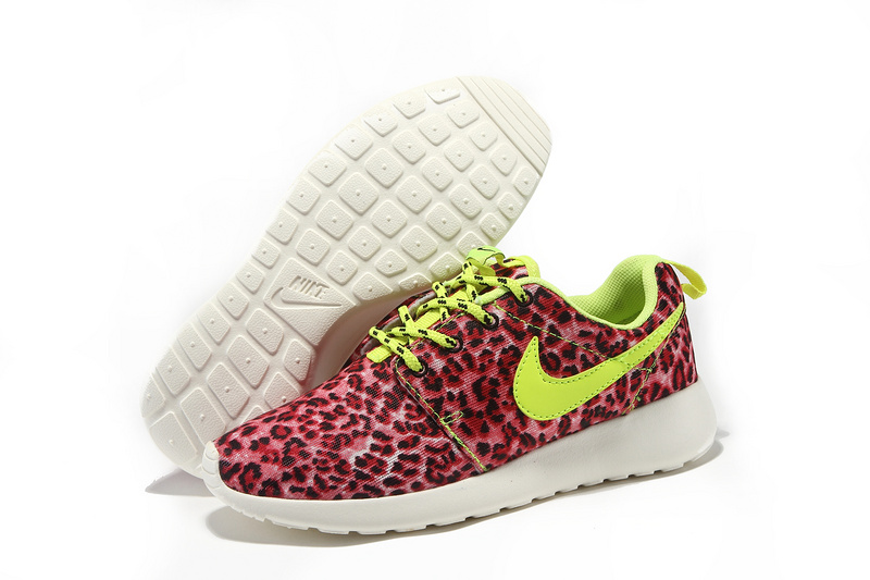 Ladies nike roshe run leopard pink london running trainers [zxfluxtrainers513]
