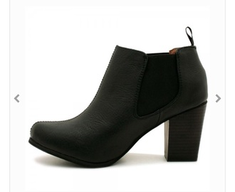 shoes black ankle boots boots mid heel boots