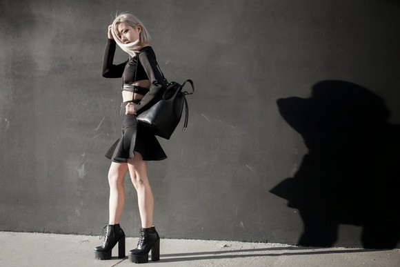 top bag ruffle blogger feral creature two-piece
