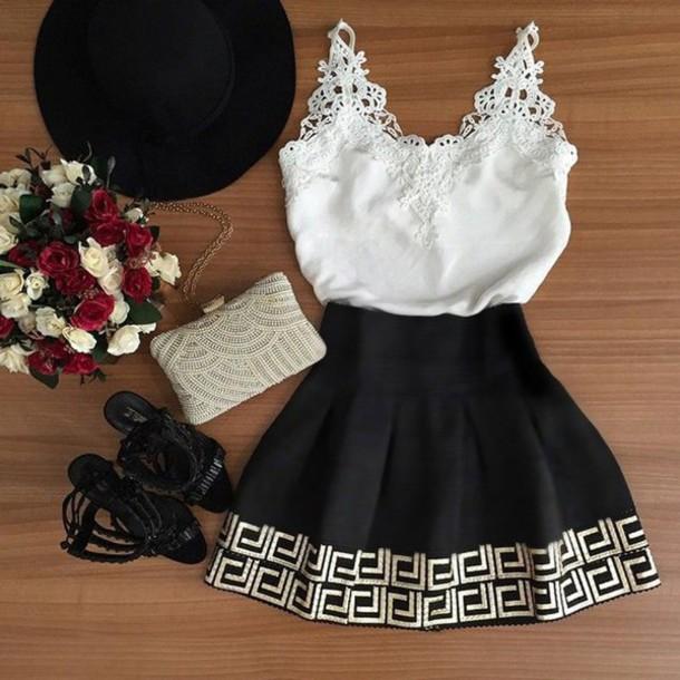 2763507dd14 dress white black white dress black dress little black dress white lace  dress skater dress mini