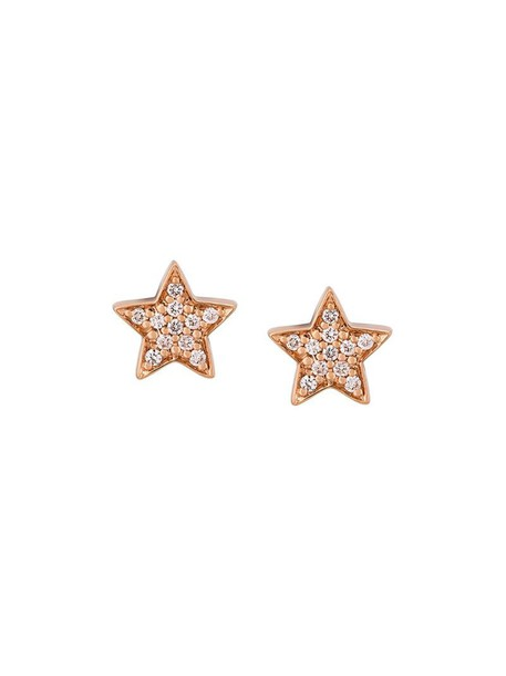 Alinka rose gold rose women earrings gold grey metallic jewels