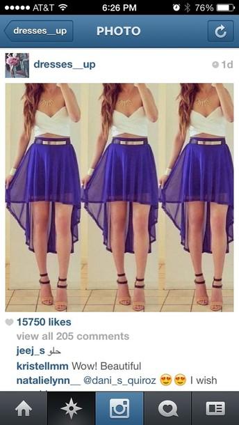 Dress High Low Dress Cut Out Tumblr Shirt Skirt Shorts Shoes Short Blue Skirt Belt Wheretoget