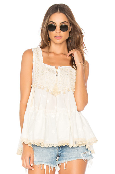 Spell & The Gypsy Collective top sleeveless top sleeveless white