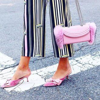 pants yeah bunny loose pastel stripes