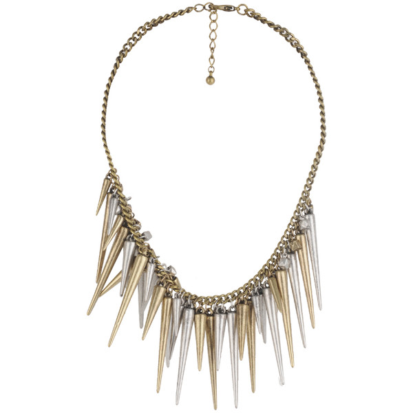 Cubes & Spikes Necklace - Forever 21 - Polyvore