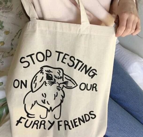 bag animal testing