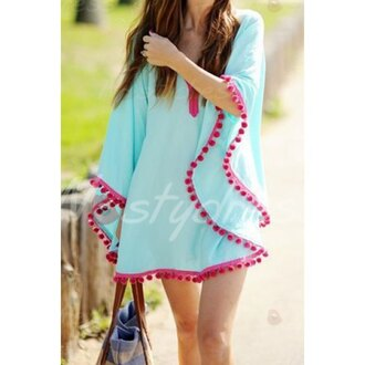 dress sexy v neck loose-fitting cover-up for women wathet purple girly blue dress short dress sexy v-neck dress