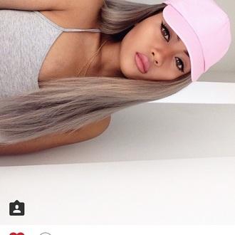 hat pink hat