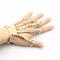 Gold punk finger knuckle ring skeleton hand bone talon claw skull bracelet cuff