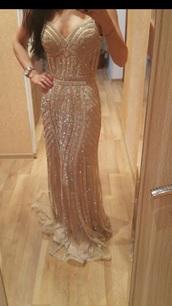 dress,mermaid,prom dress,evening dress,gold sequins