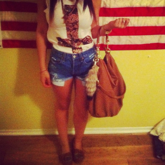 mocassins shoes foxtail bag india westbrooks t-shirt cross upside down flat shorts drown necklace
