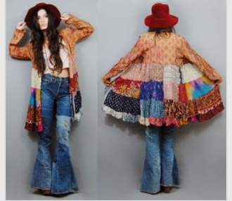 high waisted jeans jeans hippie cardigan folk