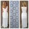 White diamond lace maxi dress