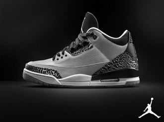 shoes grey color black grey white sneakers jordans nike air jordan air jordan retro 3 white sole black nike sneakers sneakers micheal jordan retro jordans retro 3 for men man shoes