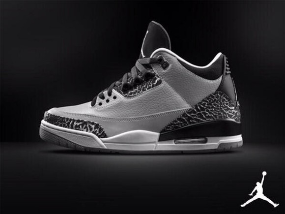 black shoes for men jordans nike sneakers white sole sneakers grey color black grey white sneakers nike air jordan air jordan retro 3 micheal jordan retro jordans retro 3 man shoes