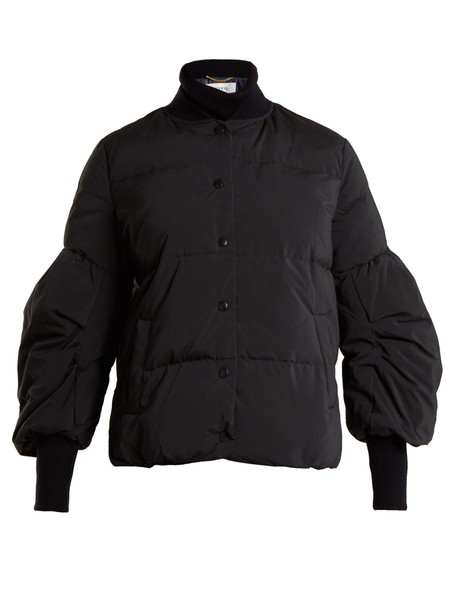 jacket down jacket quilted navy