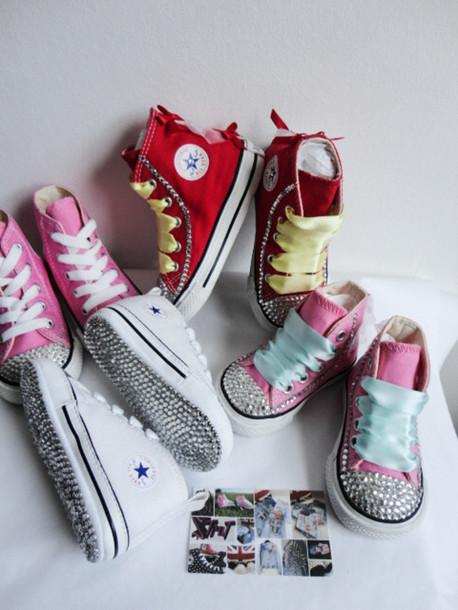 4123ef3edbc9 shoes converse Crystal Converse bling strass swarovski customised converse  customised kids fashion kids shoes