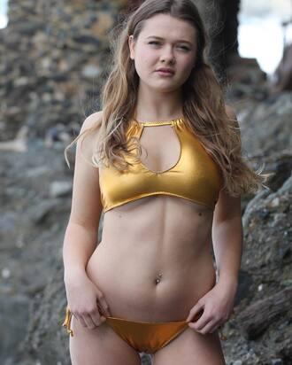 swimwear metallic swimsuit metallic bikini metallic bikini bikini top bikini bottoms