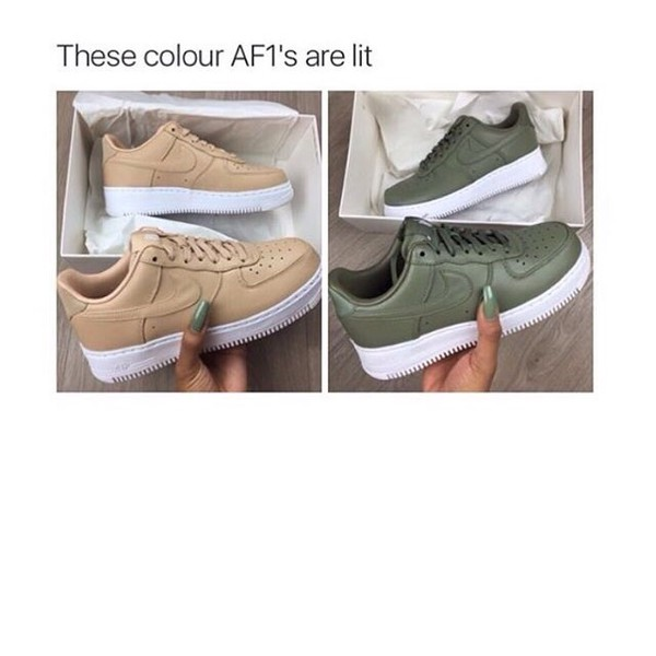 shoes nike cool hipster pretty nike air force fashion brandy melville sneakers low top sneakers nike shoes nude sneakers green vachetta tan nike air force 1 green sneakers