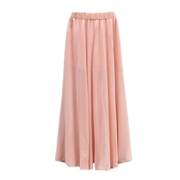 Flowy Sheer Chiffon Maxi Skirt Skort as Seen in Zara Tumblr | eBay